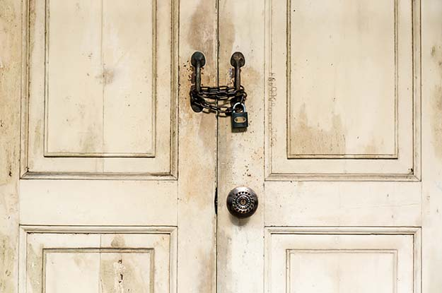locked double doors