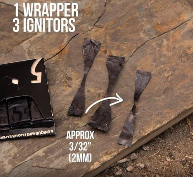 """Cut and shape the gum wrappers. 