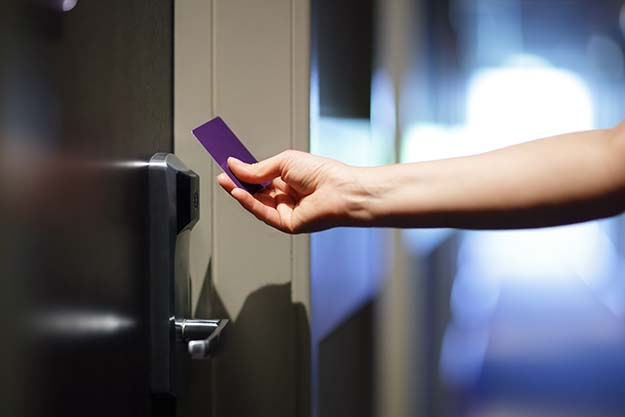 Hotel key cars add an extra layer of security for guests.
