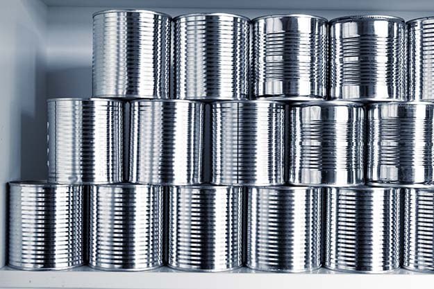 canned survival food storage