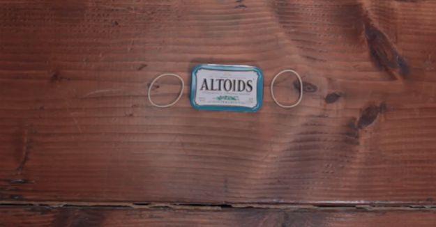 Altoids tin & rubber bands | Make Your Own Altoids Urban Survival Kit