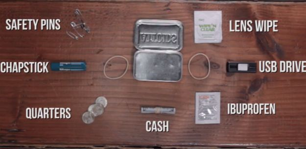 Safety pins | Make Your Own Altoids Urban Survival Kit