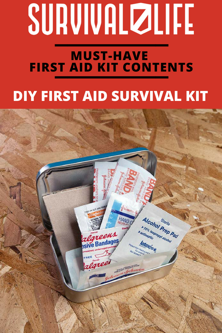 Check out Must-Have First Aid Kit Contents at https://survivallife.com/first-aid-kit-contents/