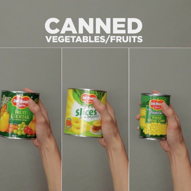 Survival Foods That Are Great During Short Term Disasters Canned Vegetables and Fruits