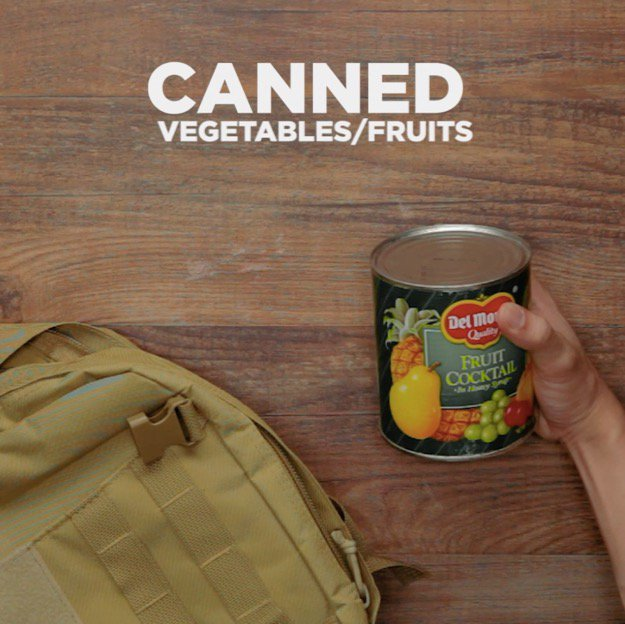 Survival Foods That Will Save You in a Disaster Canned Vegetables Fruits