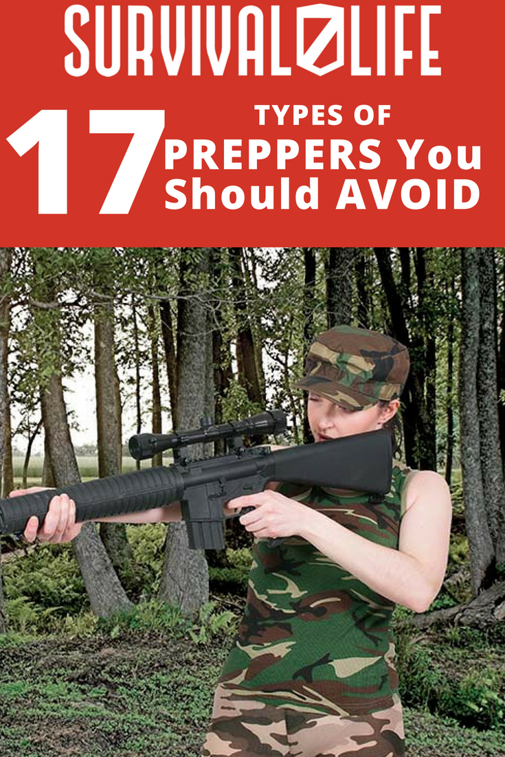 Placard | Beware: 17 Types of Preppers You Should Avoid | Prepper Categories