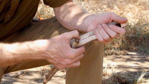 How to Start a Friction Fire Step One