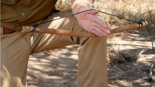 How to Start a Friction Fire Step Two