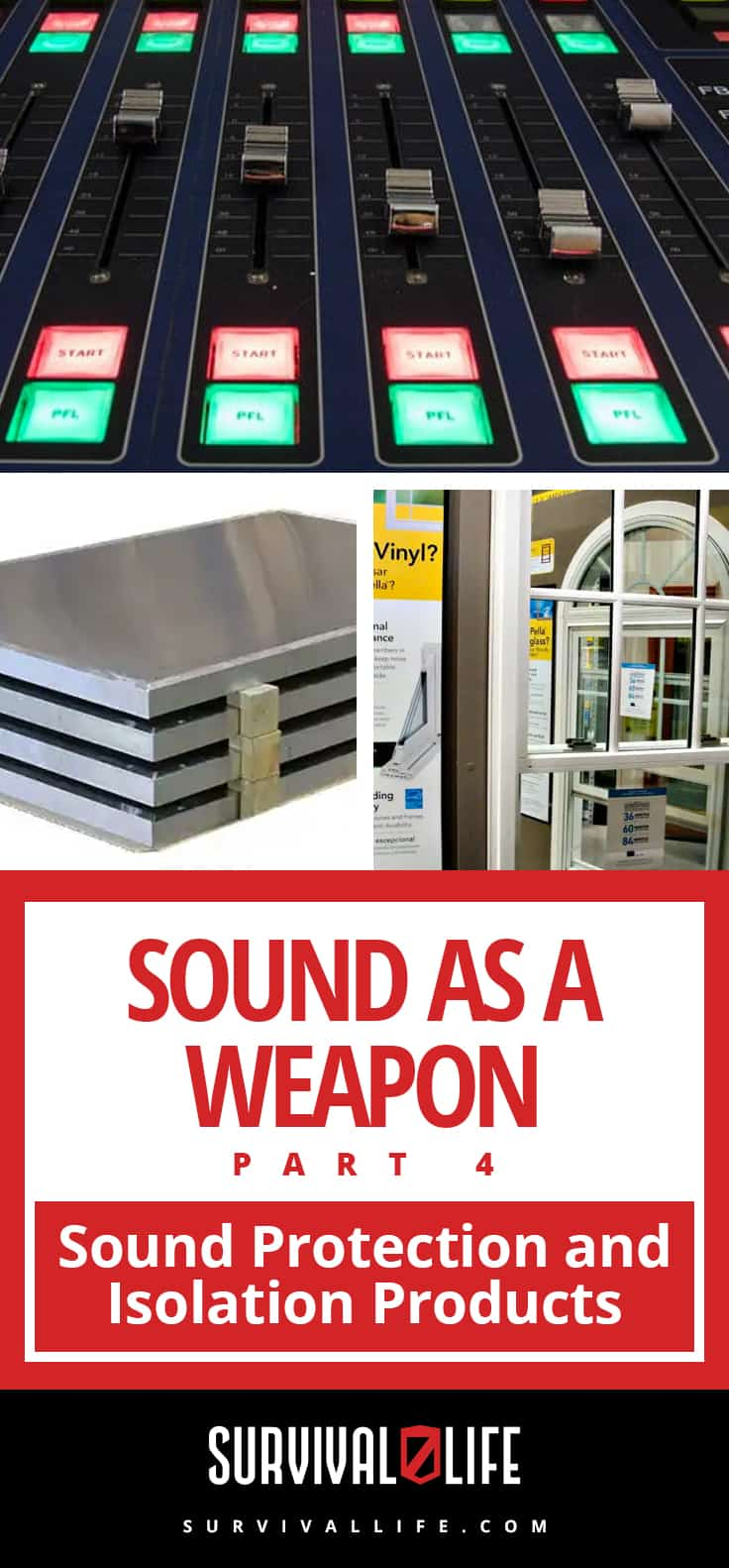 Sound As A Weapon Part 4: Sound Protection And Isolation Products | https://survivallife.com/sound-protection/