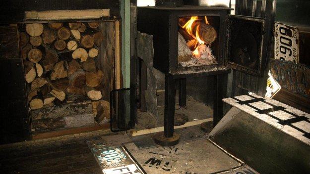Wooden Stove   Man Survives Yukon Winter in Camper Van
