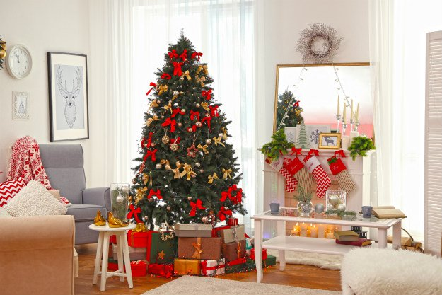 """christmas-tree-in-living-room """"O' Christmas Tree!"""" 