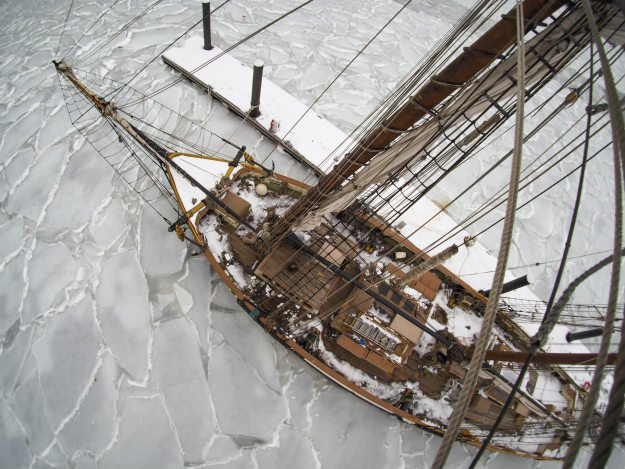 top-view-of-boat-in-ice True Stories Of Survival: The Shackleton Arctic Disaster