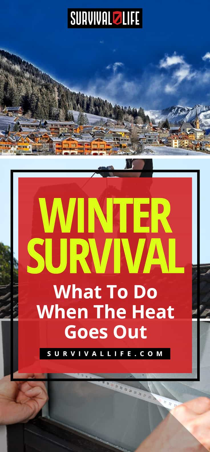 Placard | Snowing | Winter Survival | What To Do When The Heat Goes Out | winter survival tips
