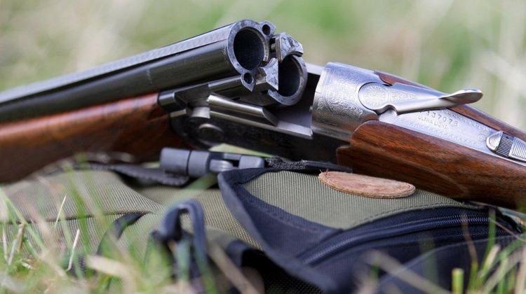Hunting Shotgun up close  