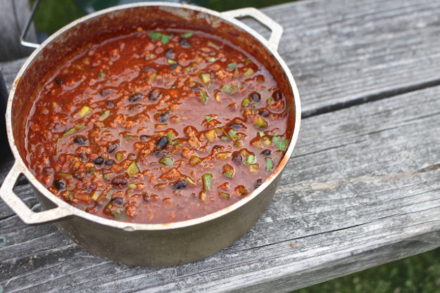 Chili | Practical (Yet Delicious) Winter Campfire Cooking Ideas For Outdoor Cooking