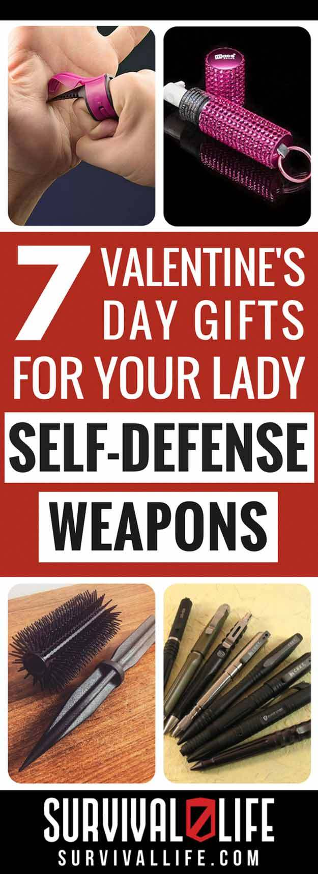 Infographic | Valentine's Day Gifts For Her | Self-Defense Weapons For Women | Valentine's Day Gift Ideas