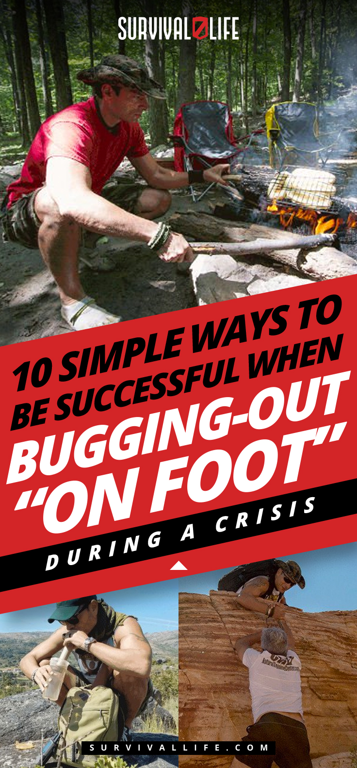 """10 Simple Ways To Be Successful When Bugging-Out """"On Foot"""" During A Crisis"""