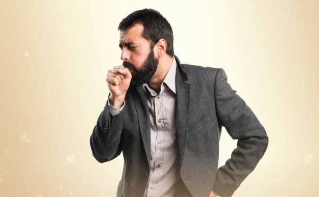 coughing man DIY Cough Syrups and Cough Drops   Chemical Free Remedies