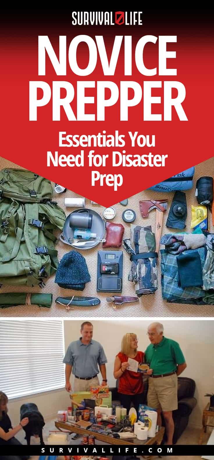 Pinterest Placard | Novice Prepper: Essentials You Need for Disaster Prep | Shtf Preppers