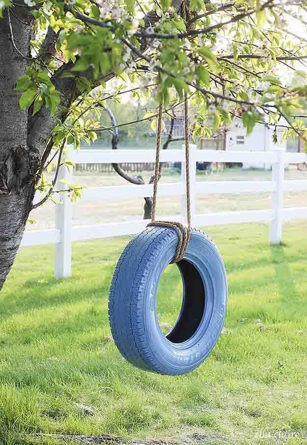 Tire Swing | 50 Easter Egg Hiding Spots