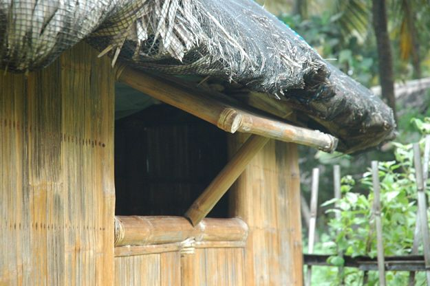 Add the floor, doors, and windows | How To Build A Bamboo House In The Wild | Survival Life Shelter