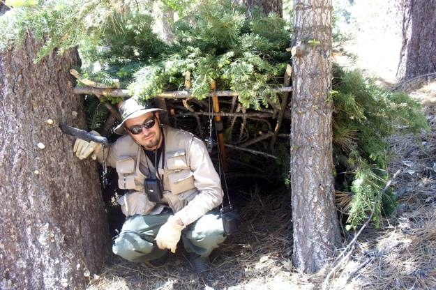 Add Leaves or Branches to the Meshwork | Create A Shelter Out of A Juniper Tree for Survival