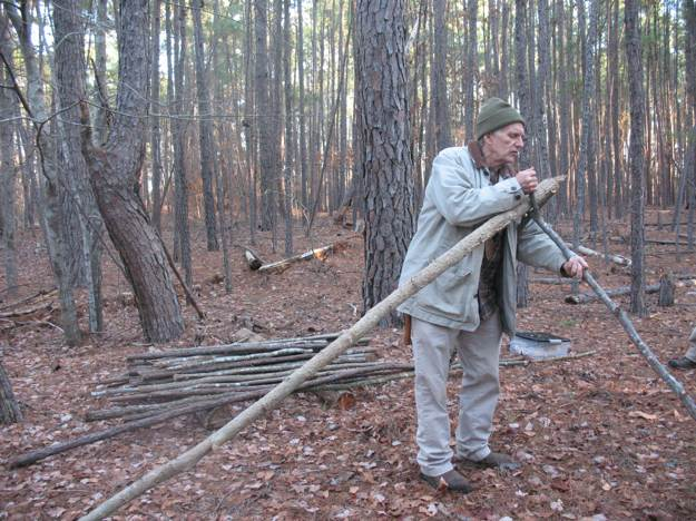 Gathering the Materials | How to Build A Spider Shelter | A Survival Life Guide