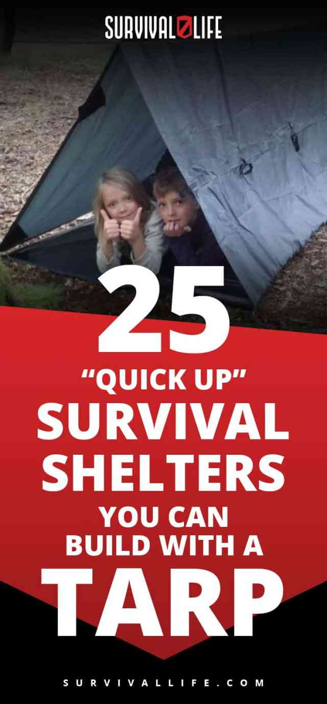 "Placard | ""Quick Up"" Survival Shelters You Can Build With A Tarp"