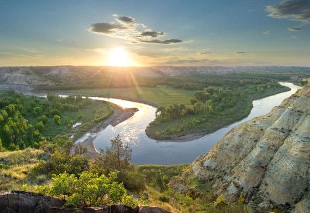 """Camping in North Dakota 