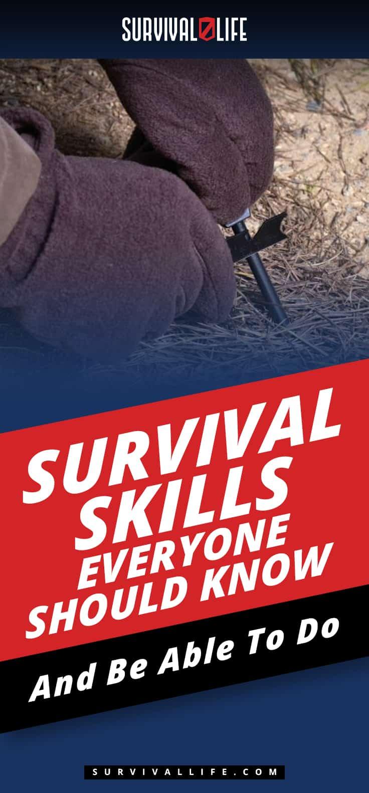 Placard | Survival Skills Everyone Should Know And Be Able To Do | Survival Skills Everyone Should Know
