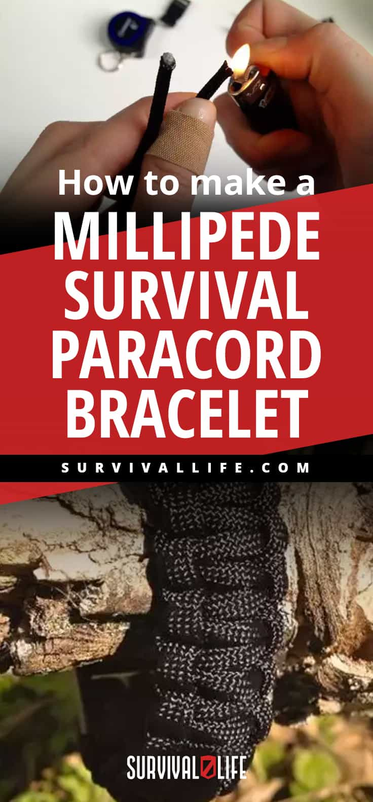 Placard | How to Make a Millipede Survival Paracord Bracelet