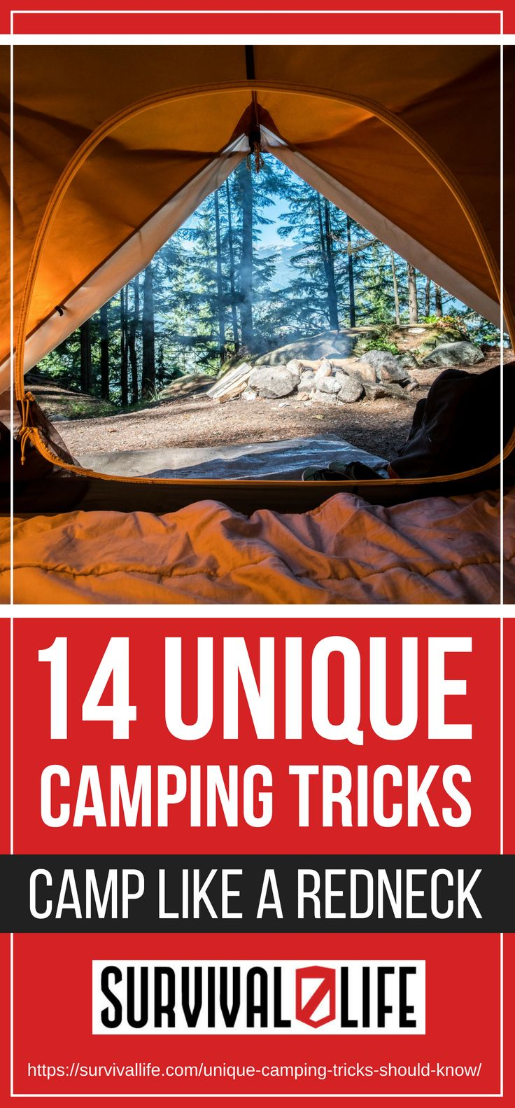 Unique Camping Tricks | Camp Like A Redneck | https://survivallife.com/unique-camping-tricks-should-know/