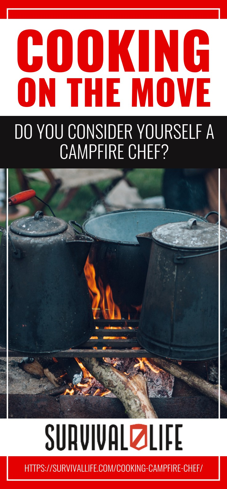 Cooking On The Move; Do You Consider Yourself A Campfire Chef? https://survivallife.com/cooking-campfire-chef/