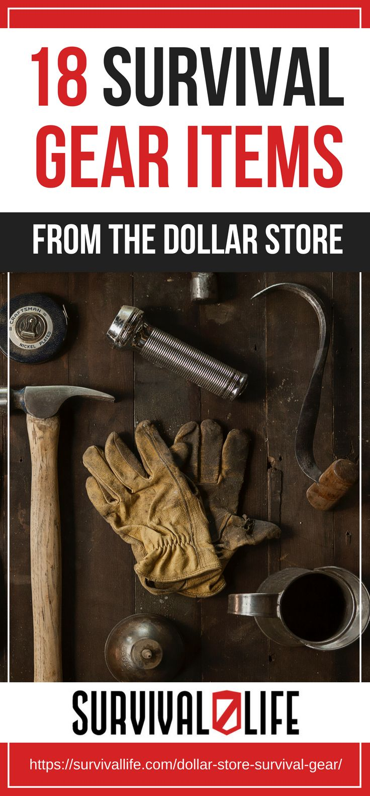 Pinterest Placard   18 Survival Gear Items From The Dollar Store