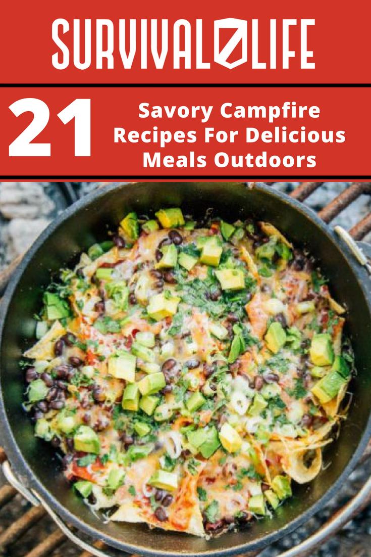Savory Campfire Recipes For Delicious Meals Outdoors | https://survivallife.com/campfire-recipes/