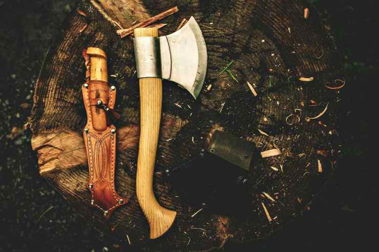 Knife and axe in the woods | How To Build An Overnight Bushcraft Camp