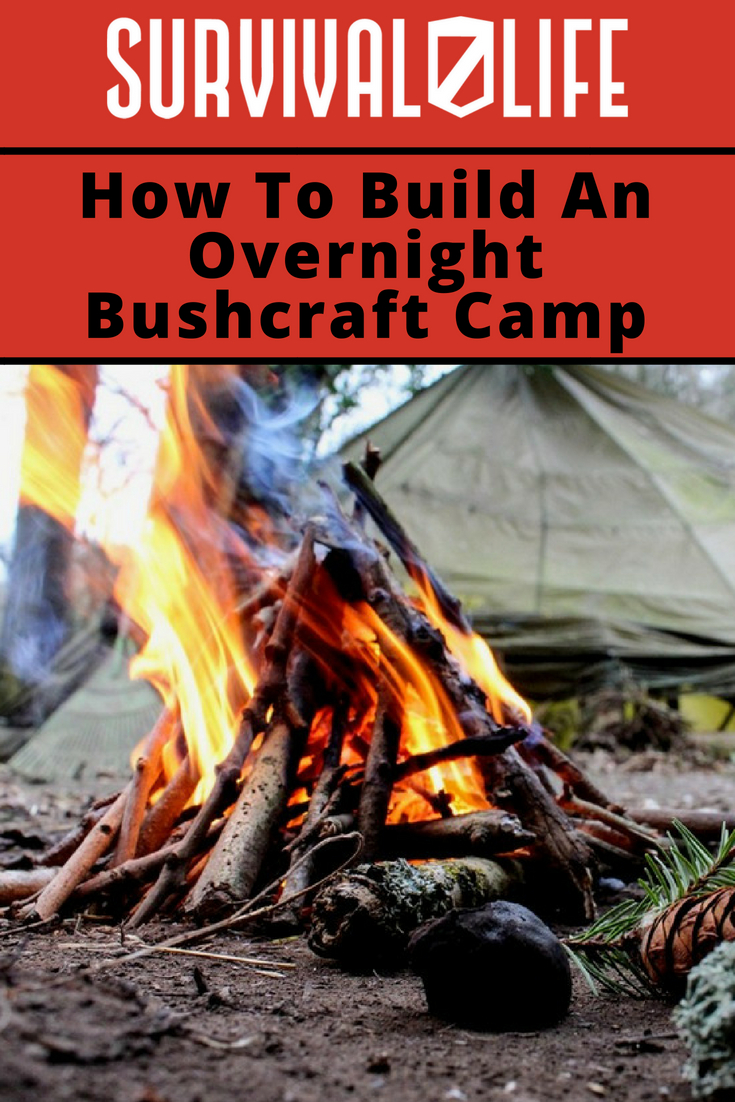 How To Build An Overnight Bushcraft Camp | https://survivallife.com/overnight-bushcraft-camp-tutorial/