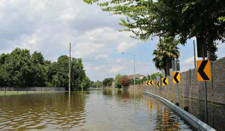 Flooded road | Flood Survival Tips | How To Survive Before, During, And After A Flood
