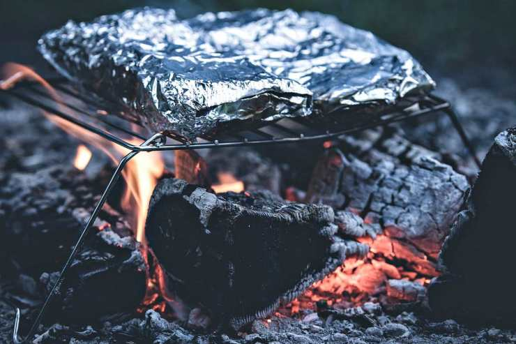Aluminum foil barbecue in Grill | Top Camping Tips I Learned From My Old Man