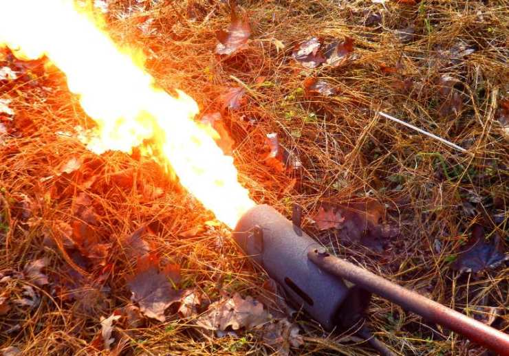 flame gunthrower after coil warmed roaring | make homemade weapons