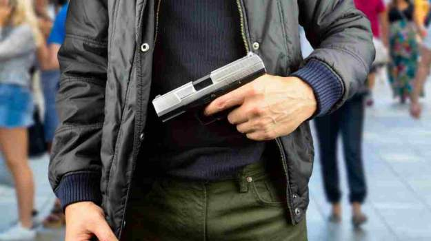 Man holding gun   Global Catastrophes To Prepare For NOW