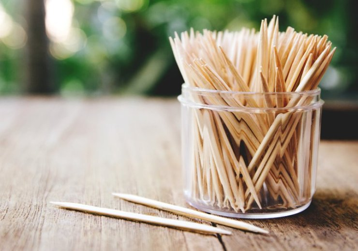 toothpicks on wooden table background close | shtf tips