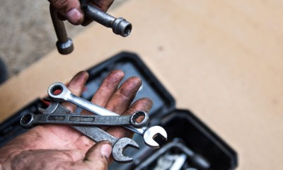 male mechanic sorting out wrenches box | Knifemaking: Make A Knife From An Old Wrench | featured