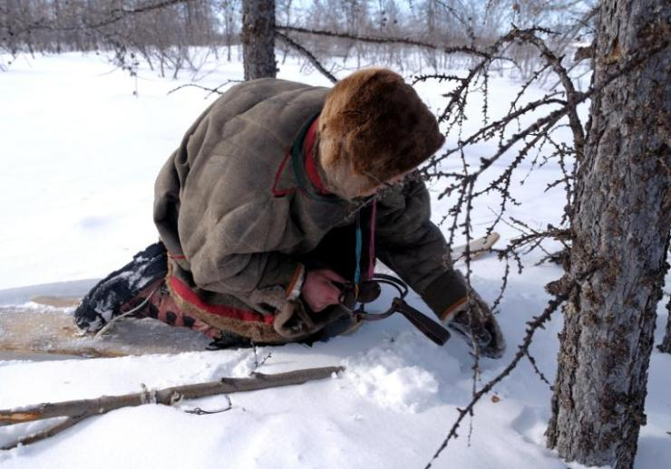 ethnography ski hunter sets trap wild   winter survival gear list