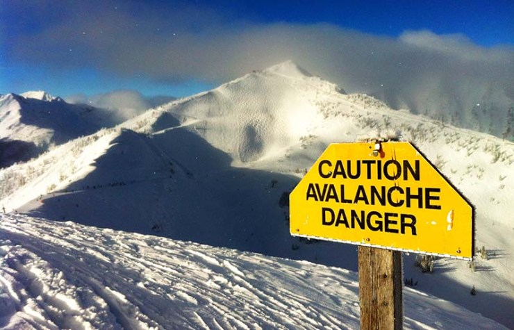 avalanche danger sign kicking horse ski | how to prepare for an avalanche