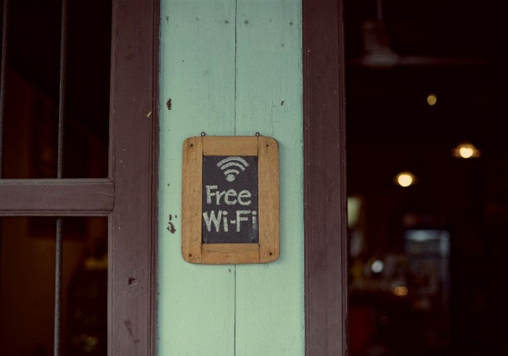 free wifi sign coffee shop cafe | car living setup