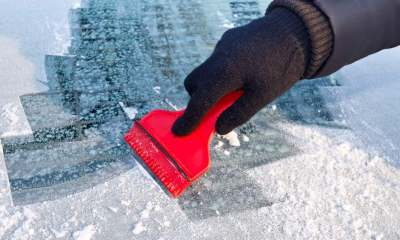 scraping-ice-car-window | deicer | homemade diy deicer