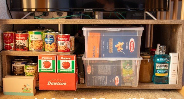 Prepping during the covid19 pandemic. Food storage-food kit-ss