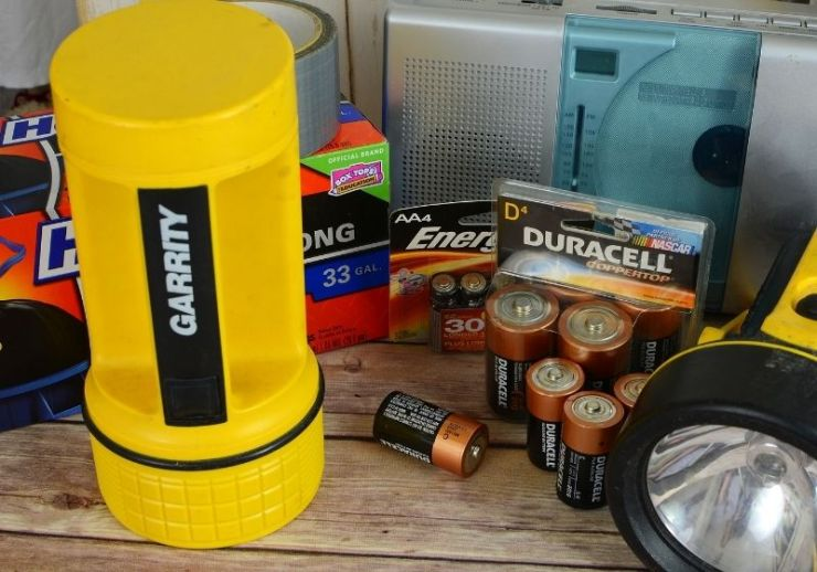 Illustrative editorial mixture of items | blackout kit