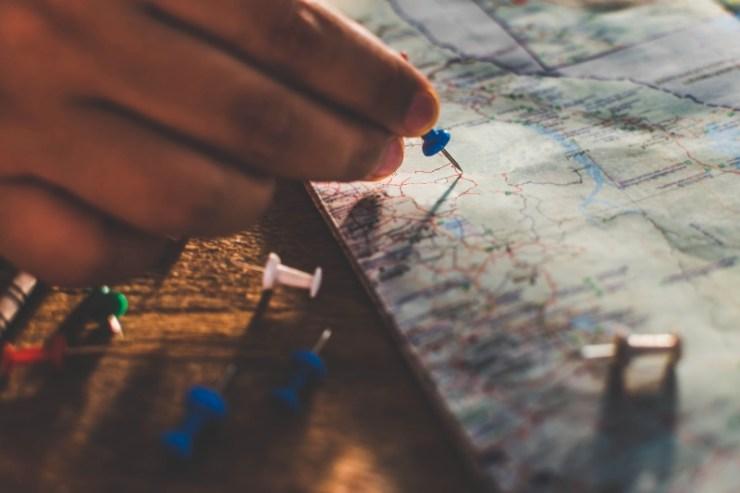 Putting Pins on Map | Car Emergency Kit